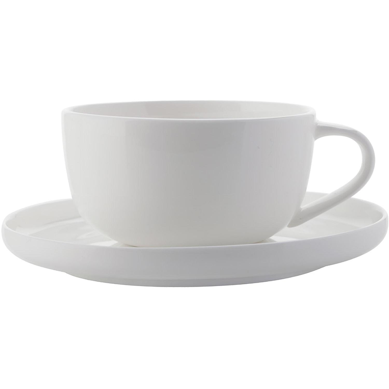 Maxwell & Williams Cashmere White Espresso Cup & Saucer High Rim
