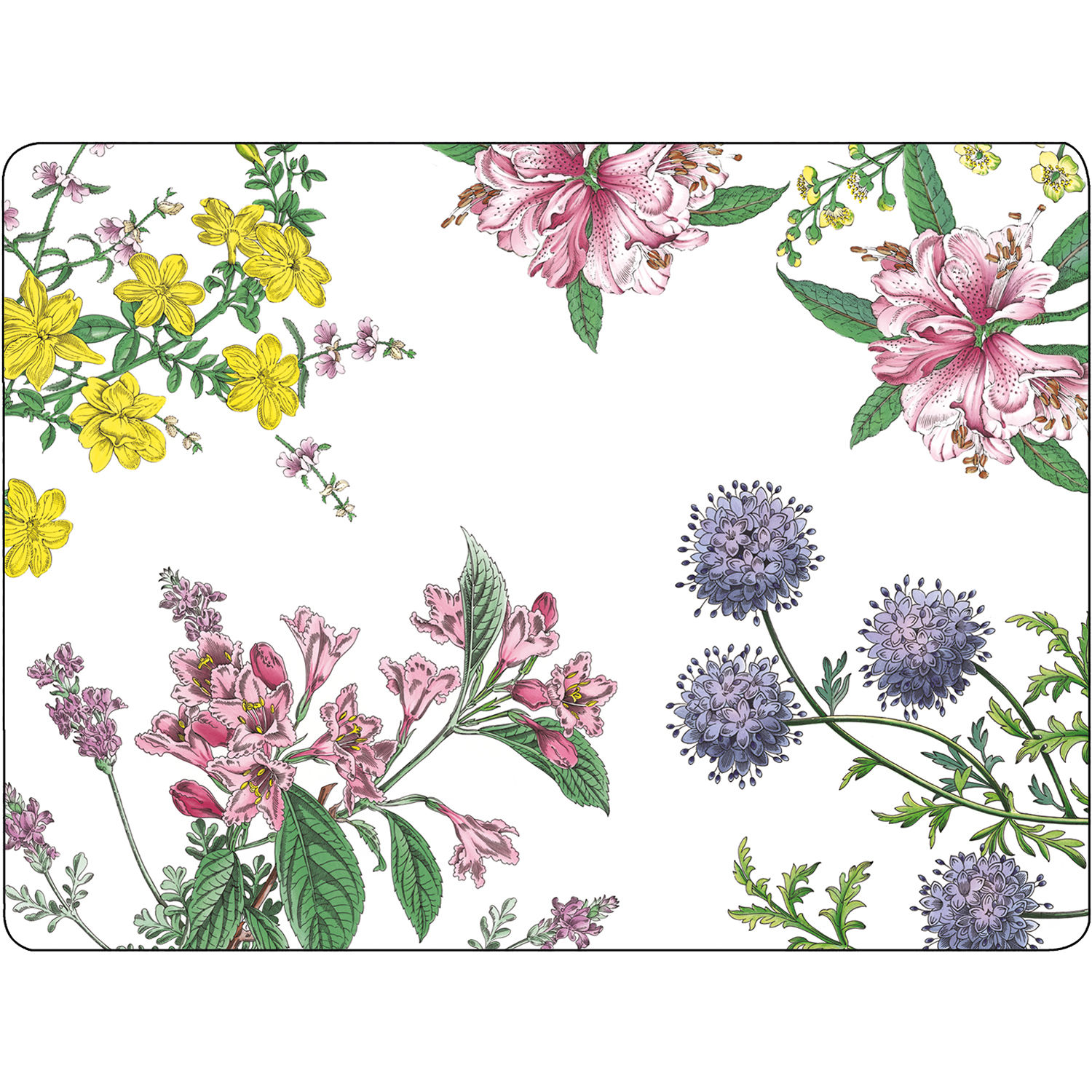 Pimpernel Fruits And Floral Stafford Blooms Large Placemats Set Of 4 Louis Potts