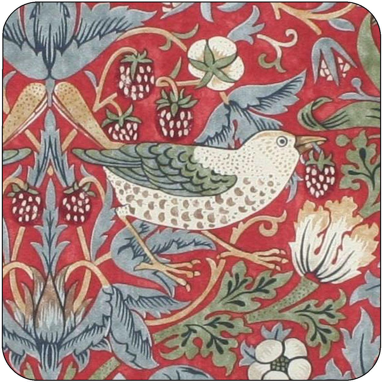 Pimpernel William Morris Strawberry Thief Red Coasters Set Of 6 Louis Potts