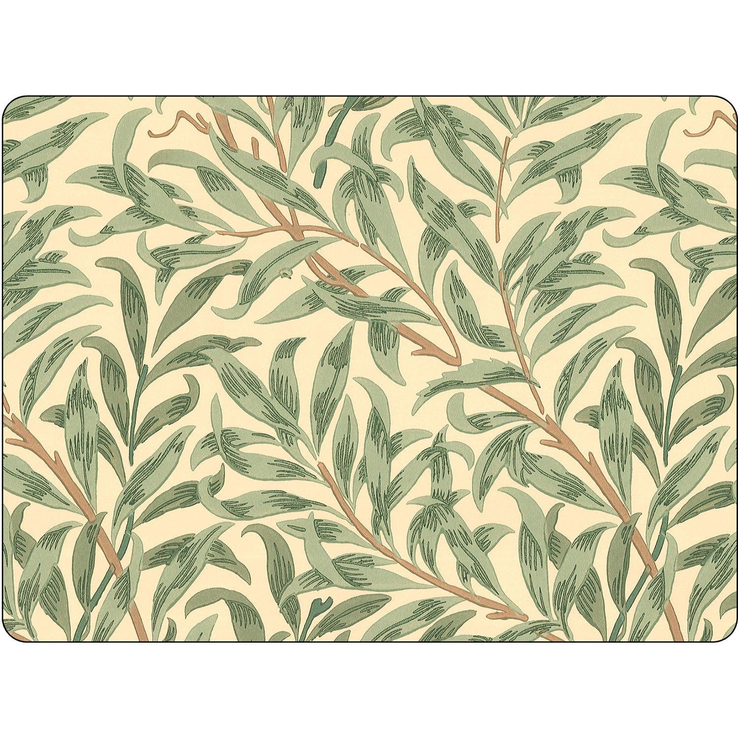 Pimpernel William Morris Willow Bough Green Placemats Set