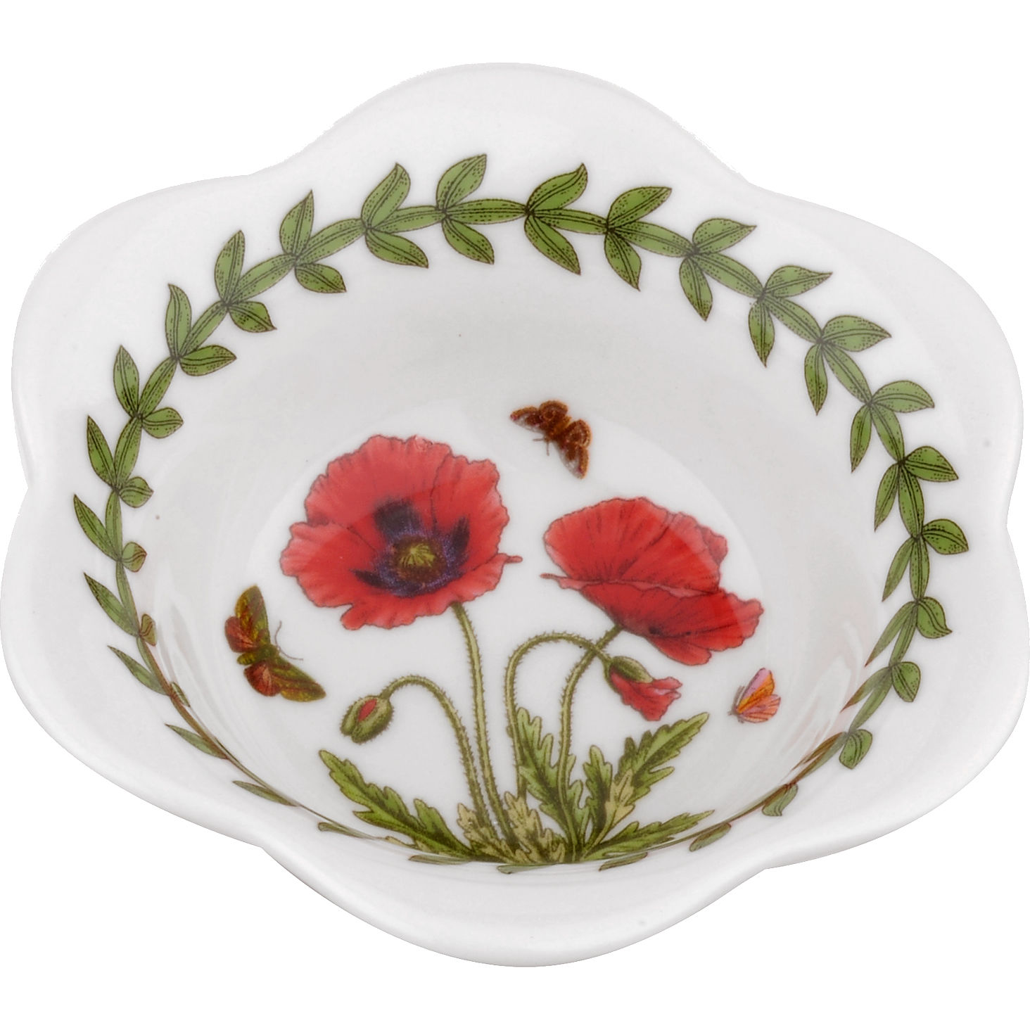 Portmeirion Botanic Garden Dip Bowl Set Of 2 Poppy