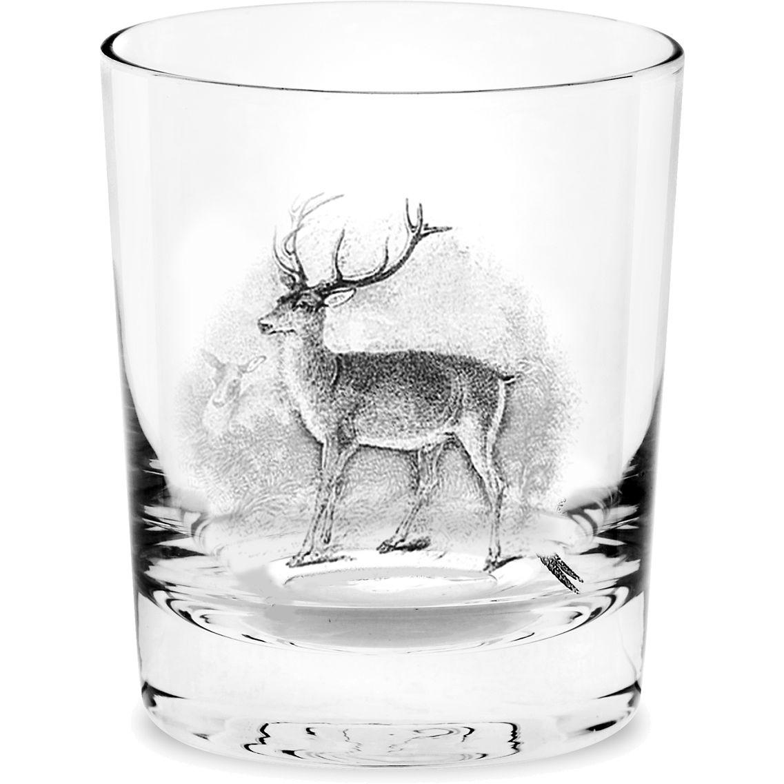 Spode Glen Lodge Whiskey Glass Set Of 4 Stag Louis Potts