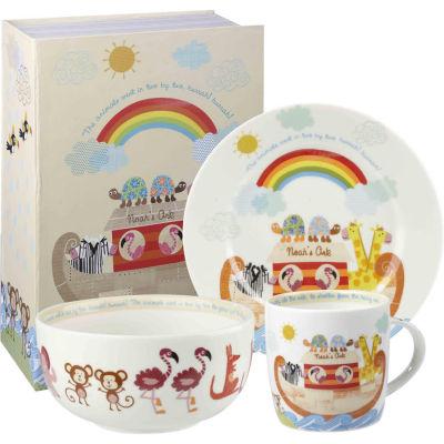 Little Rhymes 3-Piece Breakfast Set Noah's Ark