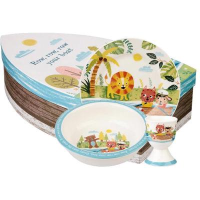 Little Rhymes 3-Piece Breakfast Set Row Your Boat