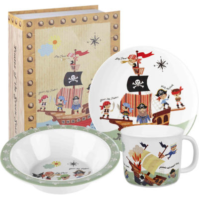 Little Rhymes 3-Piece Melamine Set Pirates