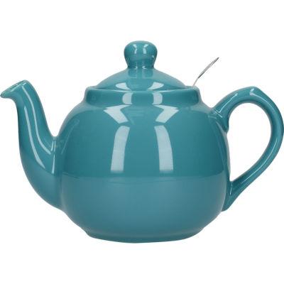 London Pottery Farmhouse Filter 2-Cup Farmhouse Teapot Aqua Blue