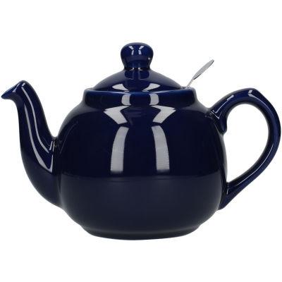 London Pottery Farmhouse Filter 2-Cup Farmhouse Teapot Cobalt Blue