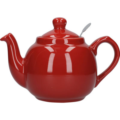 London Pottery Farmhouse Filter 2-Cup Farmhouse Teapot Red