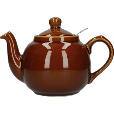 London Pottery Farmhouse Filter 2-Cup Farmhouse Teapot Rockingham Brown