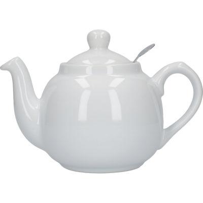 London Pottery Farmhouse Filter 2-Cup Farmhouse Teapot White