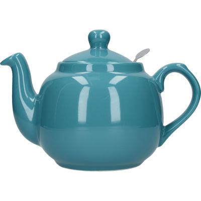 London Pottery Farmhouse Filter 4-Cup Farmhouse Teapot Aqua Blue