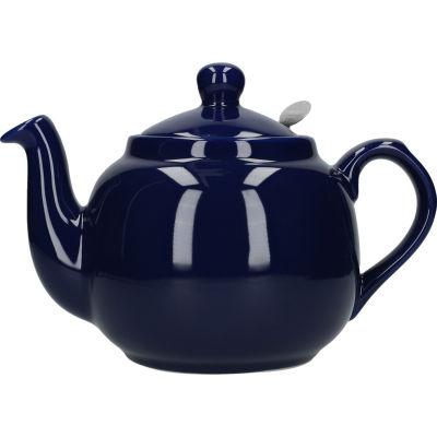 London Pottery Farmhouse Filter 4-Cup Farmhouse Teapot Cobalt Blue