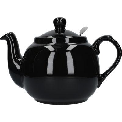 London Pottery Farmhouse Filter 4-Cup Farmhouse Teapot Gloss Black