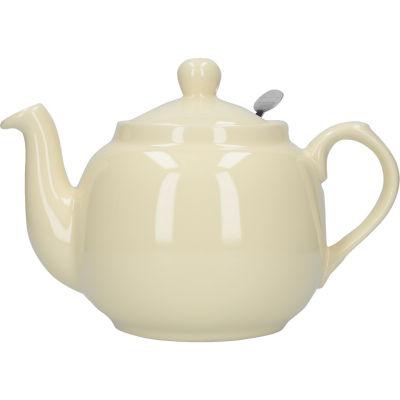 London Pottery Farmhouse Filter 4-Cup Farmhouse Teapot Ivory