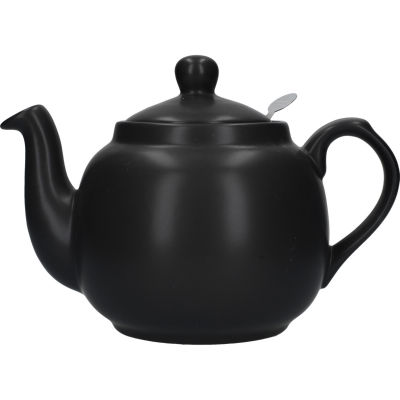 London Pottery Farmhouse Filter 4-Cup Farmhouse Teapot Matt Black