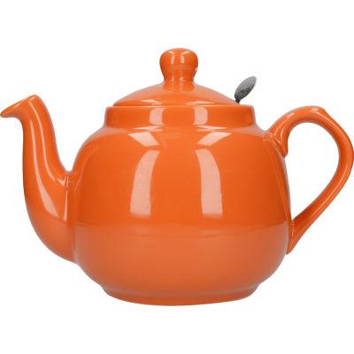 London Pottery Farmhouse Filter 4-Cup Farmhouse Teapot Orange