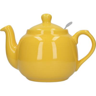 London Pottery Farmhouse Filter 4-Cup Farmhouse Teapot Yellow