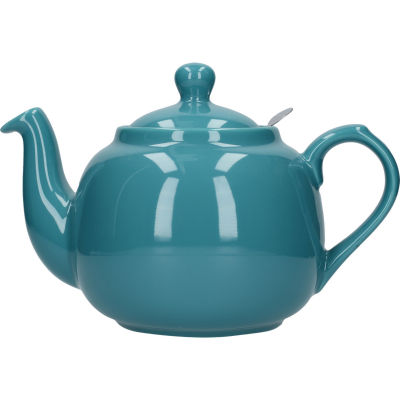 London Pottery Farmhouse Filter 6-Cup Farmhouse Teapot Aqua Blue