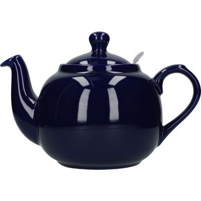 London Pottery Farmhouse Filter 6-Cup Farmhouse Teapot Cobalt Blue
