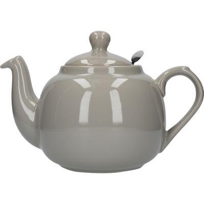 London Pottery Farmhouse Filter 6-Cup Farmhouse Teapot Grey