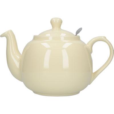 London Pottery Farmhouse Filter 6-Cup Farmhouse Teapot Ivory