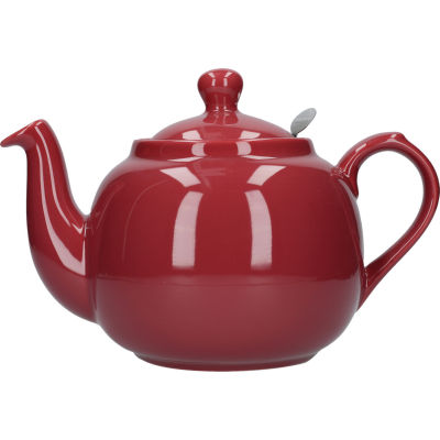 London Pottery Farmhouse Filter 6-Cup Farmhouse Teapot Red