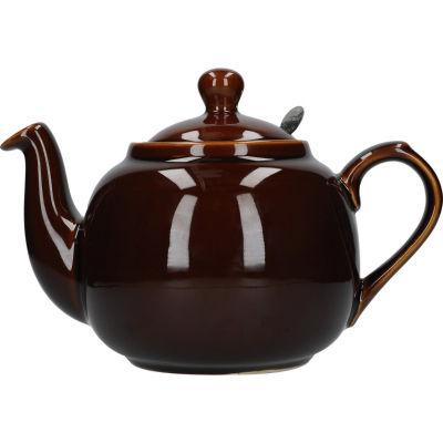 London Pottery Farmhouse Filter 6-Cup Farmhouse Teapot Rockingham Brown