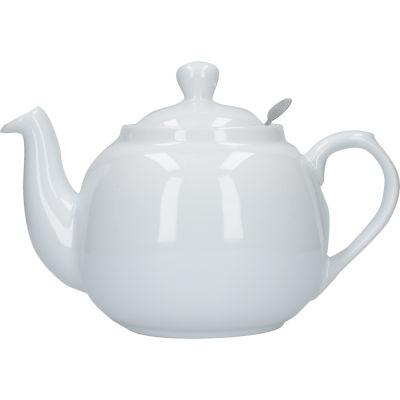 London Pottery Farmhouse Filter 6-Cup Farmhouse Teapot White