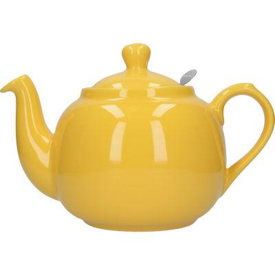 London Pottery Farmhouse Filter 6-Cup Farmhouse Teapot Yellow