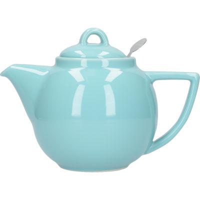 London Pottery Geo Filter 2-Cup Geo Filter Teapot Aqua Blue