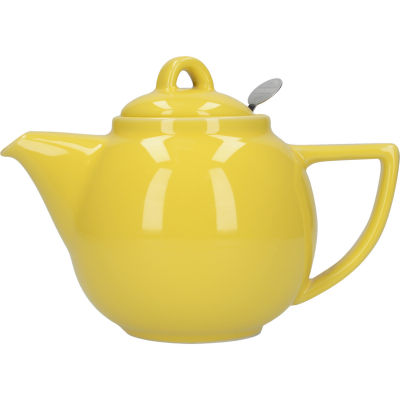 London Pottery Geo Filter 2-Cup Geo Filter Teapot Lemon Yellow
