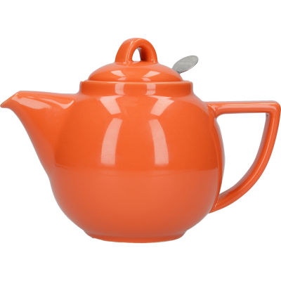 London Pottery Geo Filter 2-Cup Geo Filter Teapot Nectar Orange