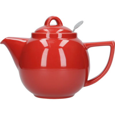 London Pottery Geo Filter 2-Cup Geo Filter Teapot Red