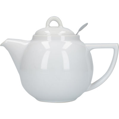 London Pottery Geo Filter 2-Cup Geo Filter Teapot White