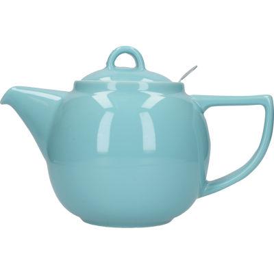 London Pottery Geo Filter 4-Cup Geo Filter Teapot Aqua Blue