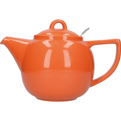 London Pottery Geo Filter 4-Cup Geo Filter Teapot Nectar Orange