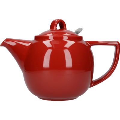 London Pottery Geo Filter 4-Cup Geo Filter Teapot Red