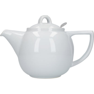 London Pottery Geo Filter 4-Cup Geo Filter Teapot White