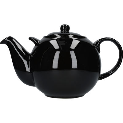 London Pottery Globe 10-Cup Teapot Gloss Black