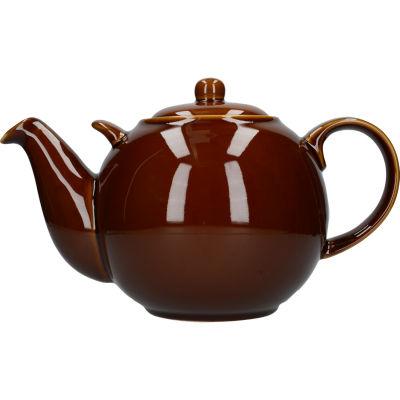 London Pottery Globe 10-Cup Teapot Rockingham Brown