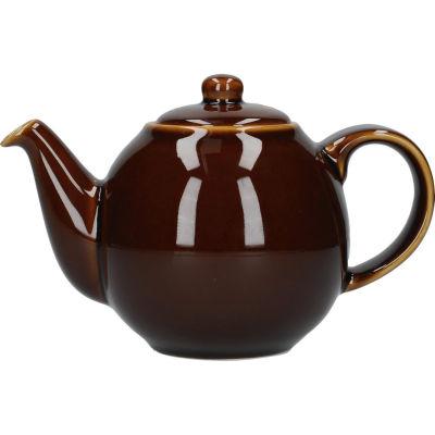 London Pottery Globe 2-Cup Teapot Rockingham Brown