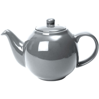 London Pottery Globe 2-Cup Teapot Silver Finish