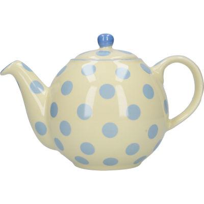 London Pottery Globe 4-Cup Teapot Ivory Blue Spot