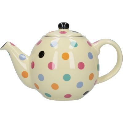 London Pottery Globe 4-Cup Teapot Ivory Multi Spot