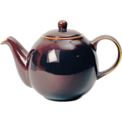 London Pottery Globe 4-Cup Teapot Oyster Brown