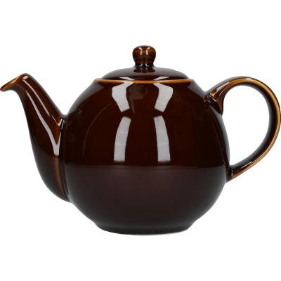 London Pottery Globe 4-Cup Teapot Rockingham Brown
