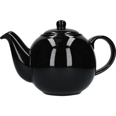 London Pottery Globe 6-Cup Teapot Gloss Black