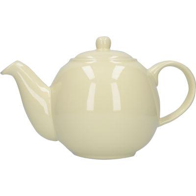London Pottery Globe 6-Cup Teapot Ivory