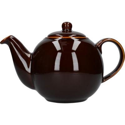 London Pottery Globe 6-Cup Teapot Rockingham Brown