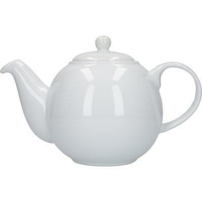London Pottery Globe 6-Cup Teapot White